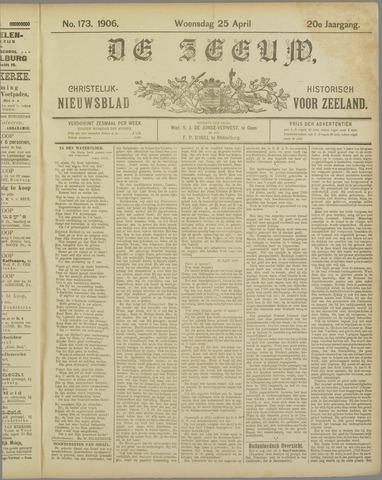 De Zeeuw. Christelijk-historisch nieuwsblad voor Zeeland 1906-04-25