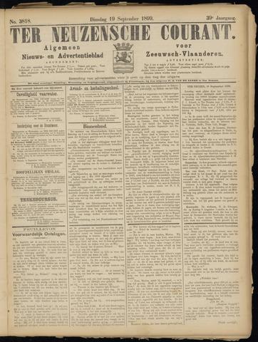 Ter Neuzensche Courant. Algemeen Nieuws- en Advertentieblad voor Zeeuwsch-Vlaanderen / Neuzensche Courant ... (idem) / (Algemeen) nieuws en advertentieblad voor Zeeuwsch-Vlaanderen 1899-09-19