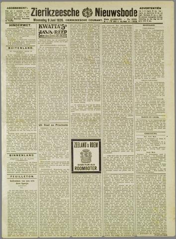 Zierikzeesche Nieuwsbode 1926-06-09