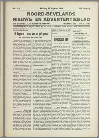 Noord-Bevelands Nieuws- en advertentieblad 1949-08-13