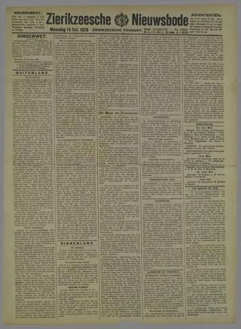 Zierikzeesche Nieuwsbode 1923-10-15