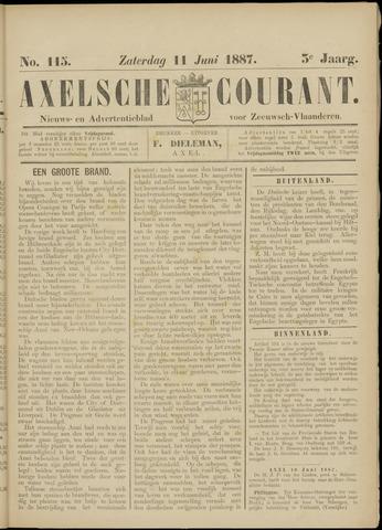 Axelsche Courant 1887-06-11