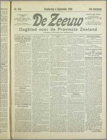 De Zeeuw. Christelijk-historisch nieuwsblad voor Zeeland 1930-09-04