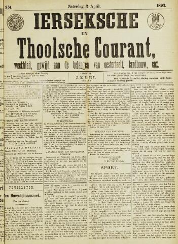 Ierseksche en Thoolsche Courant 1892-04-02