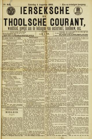 Ierseksche en Thoolsche Courant 1903-08-01