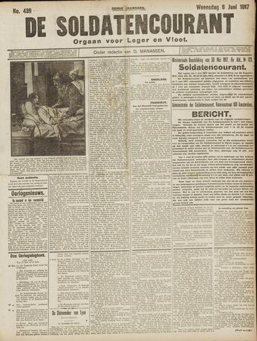 De Soldatencourant. Orgaan voor Leger en Vloot 1917-06-06