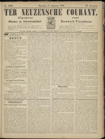 Ter Neuzensche Courant. Algemeen Nieuws- en Advertentieblad voor Zeeuwsch-Vlaanderen / Neuzensche Courant ... (idem) / (Algemeen) nieuws en advertentieblad voor Zeeuwsch-Vlaanderen 1883-08-11