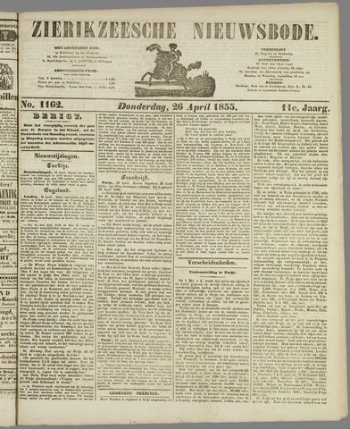 Zierikzeesche Nieuwsbode 1855-04-26