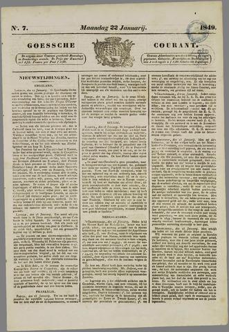 Goessche Courant 1849-01-22
