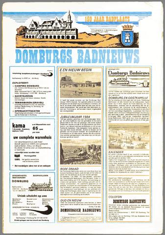 Domburgsch Badnieuws 1984