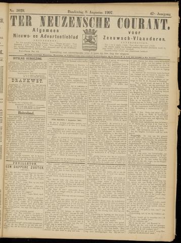 Ter Neuzensche Courant. Algemeen Nieuws- en Advertentieblad voor Zeeuwsch-Vlaanderen / Neuzensche Courant ... (idem) / (Algemeen) nieuws en advertentieblad voor Zeeuwsch-Vlaanderen 1907-08-08