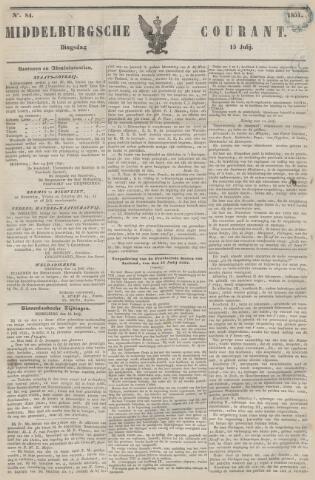 Middelburgsche Courant 1851-07-15