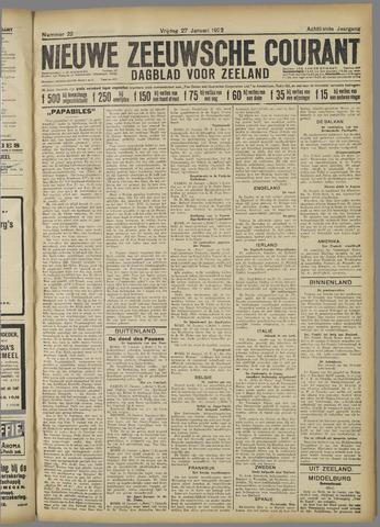 Nieuwe Zeeuwsche Courant 1922-01-27