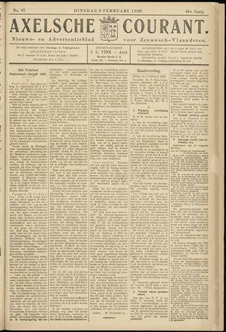Axelsche Courant 1926-02-09