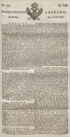 Middelburgsche Courant 1768-12-22