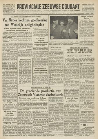 Provinciale Zeeuwse Courant 1952-01-14