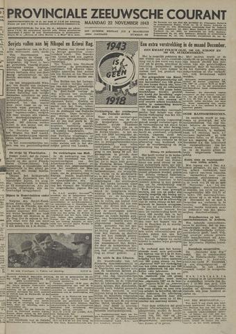 Provinciale Zeeuwse Courant 1943-11-22