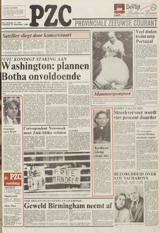 Provinciale Zeeuwse Courant 1985-09-12