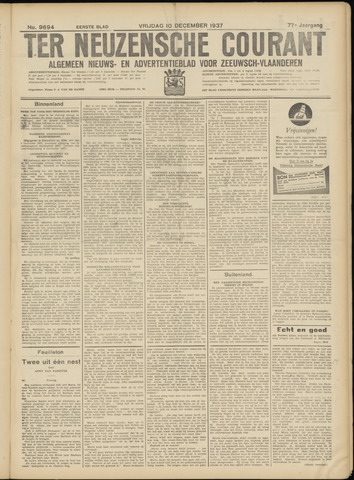Ter Neuzensche Courant. Algemeen Nieuws- en Advertentieblad voor Zeeuwsch-Vlaanderen / Neuzensche Courant ... (idem) / (Algemeen) nieuws en advertentieblad voor Zeeuwsch-Vlaanderen 1937-12-10