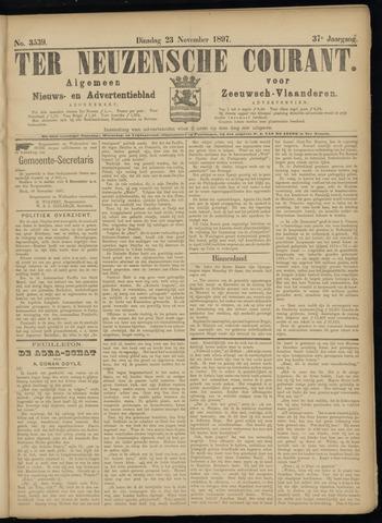 Ter Neuzensche Courant. Algemeen Nieuws- en Advertentieblad voor Zeeuwsch-Vlaanderen / Neuzensche Courant ... (idem) / (Algemeen) nieuws en advertentieblad voor Zeeuwsch-Vlaanderen 1897-11-23