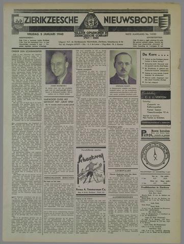 Zierikzeesche Nieuwsbode 1940-01-05