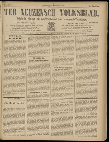 Ter Neuzensch Volksblad. Vrijzinnig nieuws- en advertentieblad voor Zeeuwsch- Vlaanderen / Zeeuwsch Nieuwsblad. Nieuws- en advertentieblad voor Zeeland 1914-09-23