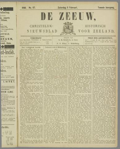 De Zeeuw. Christelijk-historisch nieuwsblad voor Zeeland 1888-02-11