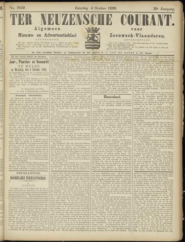 Ter Neuzensche Courant. Algemeen Nieuws- en Advertentieblad voor Zeeuwsch-Vlaanderen / Neuzensche Courant ... (idem) / (Algemeen) nieuws en advertentieblad voor Zeeuwsch-Vlaanderen 1890-10-04