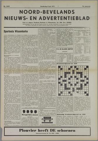 Noord-Bevelands Nieuws- en advertentieblad 1971-07-08