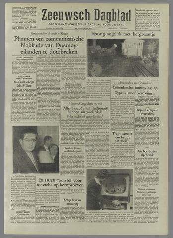 Zeeuwsch Dagblad 1958-09-16