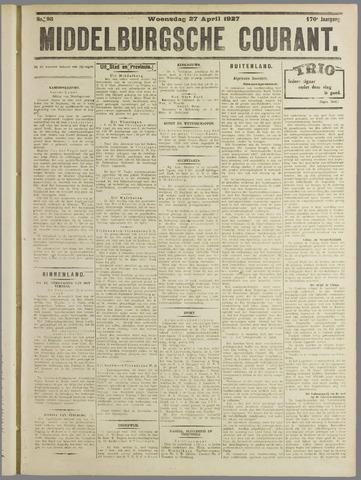 Middelburgsche Courant 1927-04-27