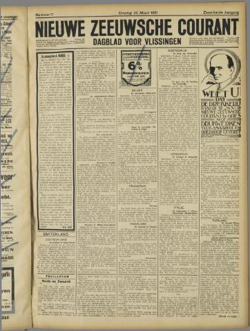 Nieuwe Zeeuwsche Courant 1921-03-29
