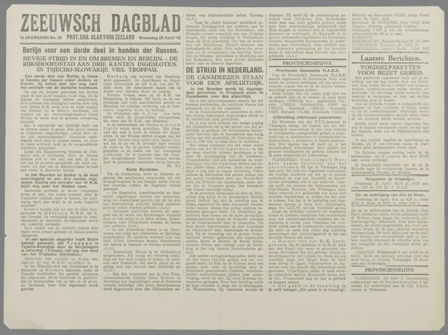 Zeeuwsch Dagblad 1945-04-25