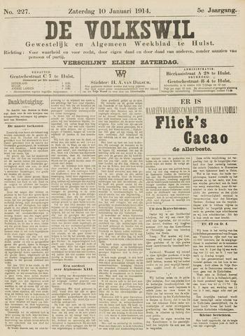 Volkswil/Natuurrecht. Gewestelijk en Algemeen Weekblad te Hulst 1914