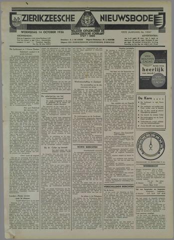 Zierikzeesche Nieuwsbode 1936-10-14