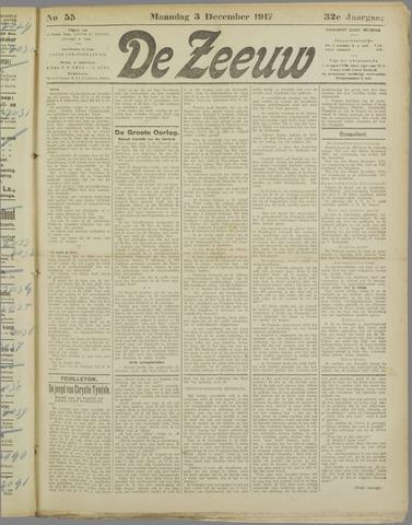 De Zeeuw. Christelijk-historisch nieuwsblad voor Zeeland 1917-12-03