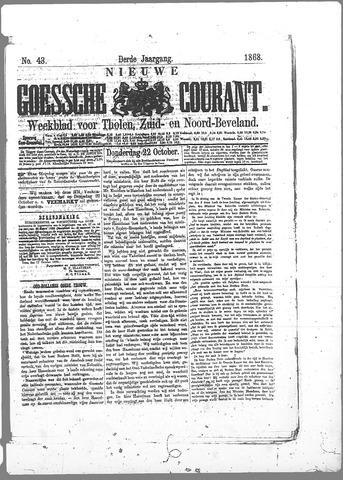 Nieuwe Goessche Courant 1868-10-22