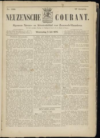 Ter Neuzensche Courant. Algemeen Nieuws- en Advertentieblad voor Zeeuwsch-Vlaanderen / Neuzensche Courant ... (idem) / (Algemeen) nieuws en advertentieblad voor Zeeuwsch-Vlaanderen 1876-07-05