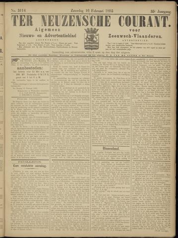 Ter Neuzensche Courant. Algemeen Nieuws- en Advertentieblad voor Zeeuwsch-Vlaanderen / Neuzensche Courant ... (idem) / (Algemeen) nieuws en advertentieblad voor Zeeuwsch-Vlaanderen 1895-02-16