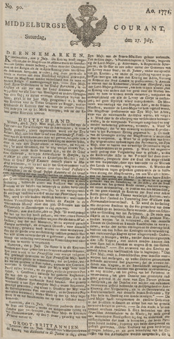 Middelburgsche Courant 1771-07-27