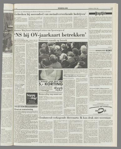 De Stem 27 April 1993 Pagina 3 Krantenbank Zeeland