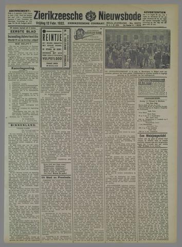 Zierikzeesche Nieuwsbode 1932-02-12