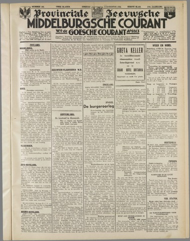 Middelburgsche Courant 1936-08-04