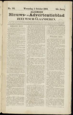 Ter Neuzensche Courant. Algemeen Nieuws- en Advertentieblad voor Zeeuwsch-Vlaanderen / Neuzensche Courant ... (idem) / (Algemeen) nieuws en advertentieblad voor Zeeuwsch-Vlaanderen 1864-10-05