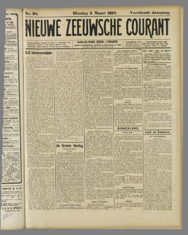 Nieuwe Zeeuwsche Courant 1918-03-05