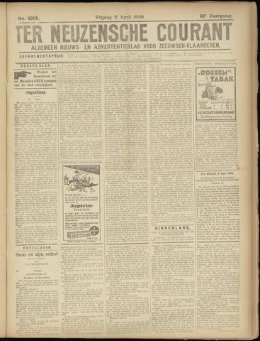 Ter Neuzensche Courant. Algemeen Nieuws- en Advertentieblad voor Zeeuwsch-Vlaanderen / Neuzensche Courant ... (idem) / (Algemeen) nieuws en advertentieblad voor Zeeuwsch-Vlaanderen 1928-04-06