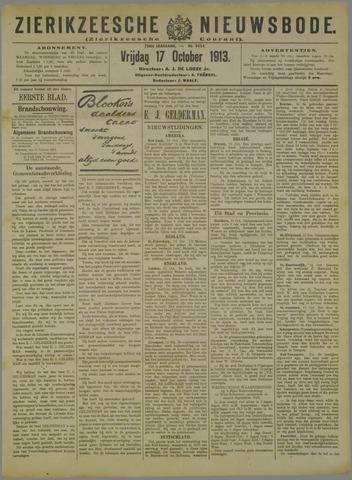 Zierikzeesche Nieuwsbode 1913-10-17
