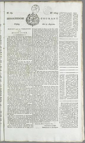 Zierikzeesche Courant 1824-08-27