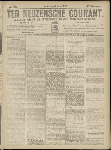 Ter Neuzensche Courant. Algemeen Nieuws- en Advertentieblad voor Zeeuwsch-Vlaanderen / Neuzensche Courant ... (idem) / (Algemeen) nieuws en advertentieblad voor Zeeuwsch-Vlaanderen 1920-06-12