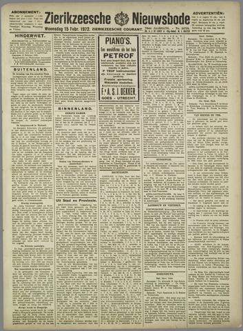 Zierikzeesche Nieuwsbode 1922-02-15